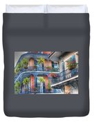 0255 Balconies - New Orleans Duvet Cover by Steve Sturgill