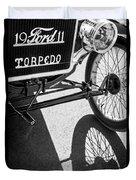 1911 Ford Model T Torpedo Grille Emblem Duvet Cover by Jill Reger