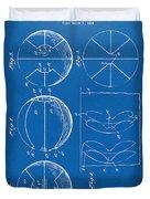 1929 Basketball Patent Artwork - Blueprint Duvet Cover by Nikki Marie Smith
