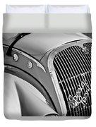 1937 Peugeot 402 Darl'mat Legere Special Sport Roadster Recreation Grille Emblem Duvet Cover by Jill Reger