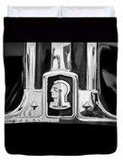 1948 Pontiac Streamliner Woodie Station Wagon Emblem Duvet Cover by Jill Reger