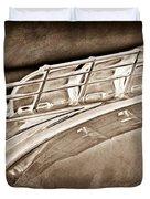 1949 Plymouth Hood Ornament Duvet Cover by Jill Reger