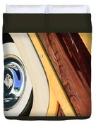 1950 Ford Custom Deluxe Woodie Station Wagon Wheel Duvet Cover by Jill Reger