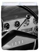 1951 Ford Crestliner Steering Wheel Duvet Cover by Jill Reger