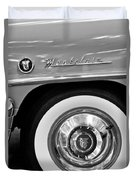 1951 Mercury Montclair Convertible Wheel Emblem Duvet Cover by Jill Reger