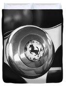 1955 Ferrari 250 Europa Gt Pinin Farina Berlinetta Steering Wheel Emblem Duvet Cover by Jill Reger