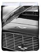 1960 Aston Martin Db4 Grille Emblem Duvet Cover by Jill Reger