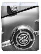 1960 Fiat 600 Jolly Emblem Duvet Cover by Jill Reger