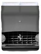 1963 Ferrari Grille Emblem Duvet Cover by Jill Reger