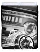 1963 Ford Falcon Futura Convertible Steering Wheel Emblem Duvet Cover by Jill Reger