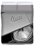 1969 Chevrolet Camaro Headlight Emblem Duvet Cover by Jill Reger