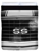 1969 Chevrolet Camaro Rs-ss Indy Pace Car Replica Grille Emblem Duvet Cover by Jill Reger