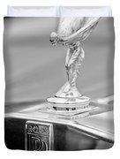 1984 Rolls-royce Silver Spur Hood Ornament Duvet Cover by Jill Reger