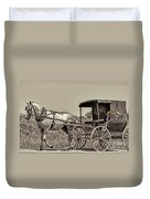 Amish Boy Tips Hat Duvet Cover by Robert Frederick