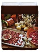 Assorted Spices Duvet Cover by Carlos Caetano