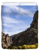 Autumn In Glenwood Canyon - Colorado Duvet Cover by Brian Harig