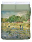 Bank Of The Seine Duvet Cover by Vincent van Gogh