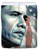 Barack Obama Artwork 2 Duvet Cover by Sheraz A