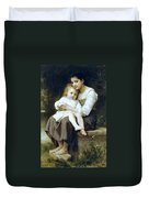 Big Sister Duvet Cover by William Bouguereau