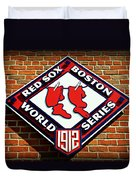 Boston Red Sox 1912 World Champions Duvet Cover by Stephen Stookey