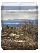 Burnt Blueberry Field In Maine Duvet Cover by Keith Webber Jr