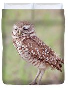 Burrowing Owl Duvet Cover by Kim Hojnacki