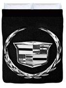 Cadillac Emblem Duvet Cover by Jill Reger