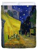 Cafe Terrace Arles Duvet Cover by Vincent van Gogh