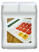 Calculator Duvet Cover by Les Cunliffe