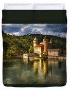 Chateau De La Roche Duvet Cover by Debra and Dave Vanderlaan