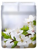 Cherry Blossoms Duvet Cover by Elena Elisseeva