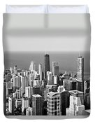 Chicago - That Famous Skyline Duvet Cover by Christine Till