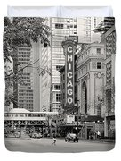 Chicago Theatre - French Baroque out of a movie Duvet Cover by Christine Till