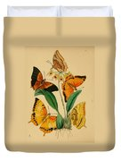 Chinese Butterflies 1847 Duvet Cover by Philip Ralley