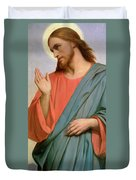 Christ Weeping Over Jerusalem Duvet Cover by Ary Scheffer