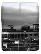 Citi Field - New York Mets Duvet Cover by Frank Romeo