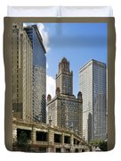 Classic Chicago -  The Jewelers Building Duvet Cover by Christine Till