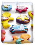 Colorful Cookies Duvet Cover by Carlos Caetano