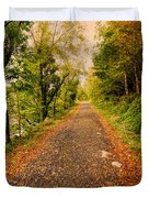 Country Lane Duvet Cover by Adrian Evans