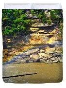 Cumberland Falls Rainbow Duvet Cover by Frozen in Time Fine Art Photography