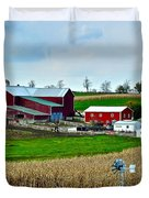Down on the Farm Duvet Cover by Frozen in Time Fine Art Photography
