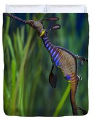 Dragon Seahorse Duvet Cover by Diego Re
