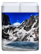 Emerald Lake In Rocky Mountain National Park Duvet Cover by Dan Sproul