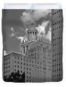 Esperson Buildings Houston Tx Duvet Cover by Christine Till