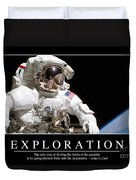 Exploration Inspirational Quote Duvet Cover by Stocktrek Images