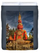 Faces Of Buddha Duvet Cover by Adrian Evans