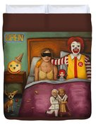 Fast Food Nightmare Duvet Cover by Leah Saulnier The Painting Maniac