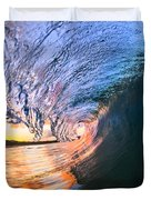 Fire And Ice Duvet Cover by Sean Davey