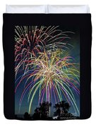 Fireworks Duvet Cover by Michael Shake