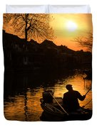 Fisherman Duvet Cover by Yew Kwang